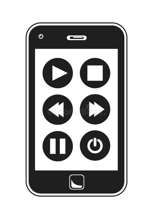 Smart Phone Music Controls vector illustration