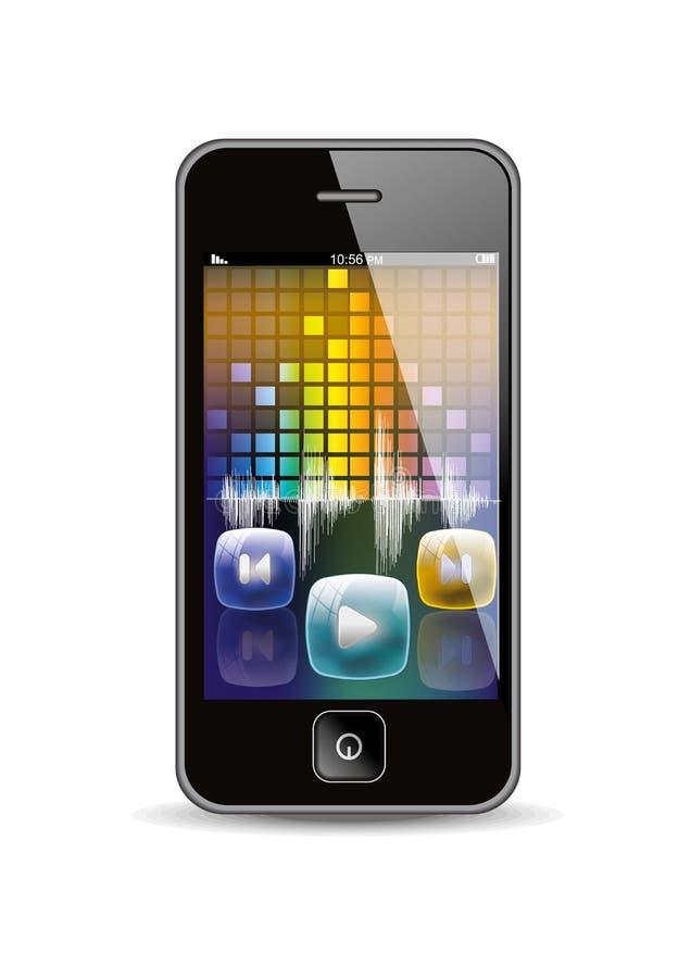 Smart phone music player stock illustration