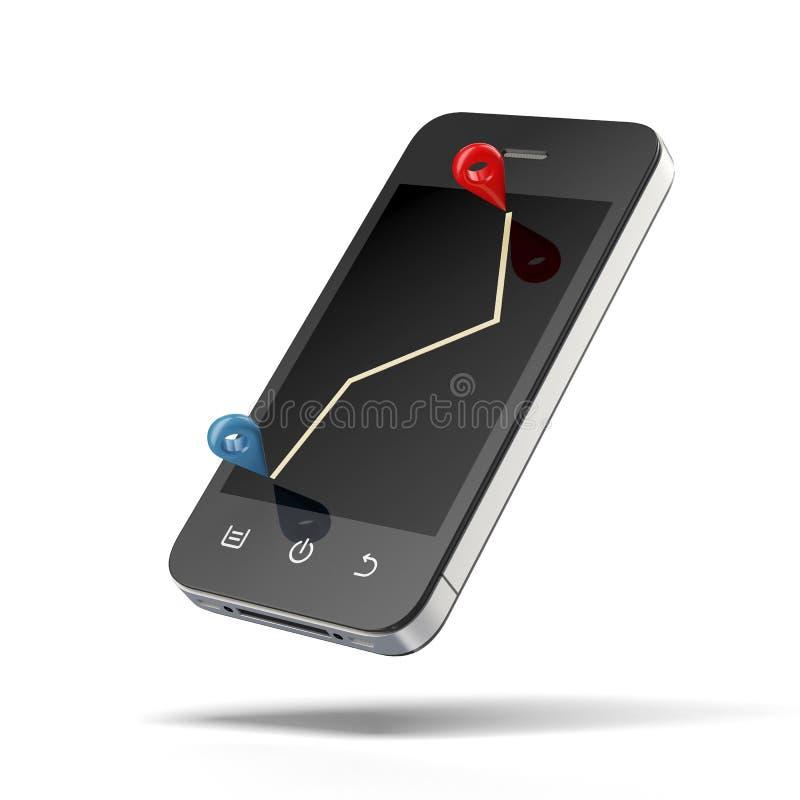Download Smart phone navigation stock illustration. Image of internet - 32141964