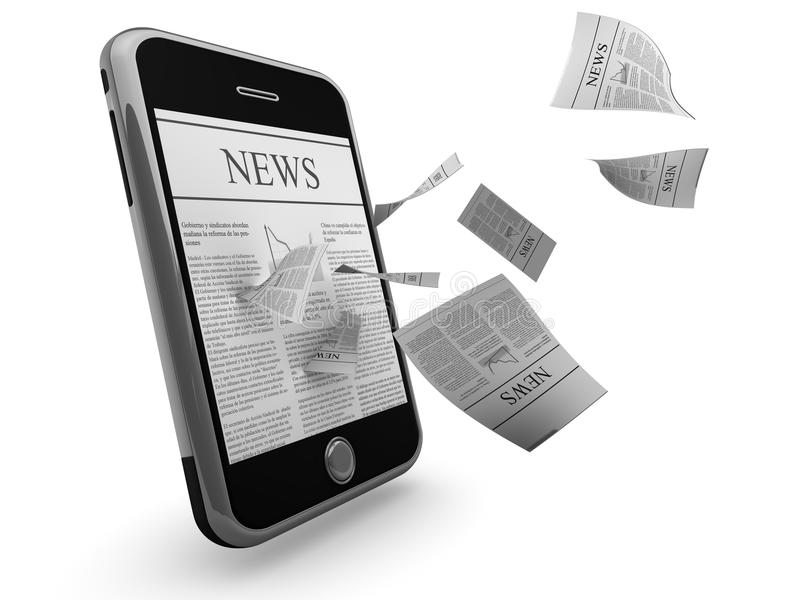 Smart phone news royalty free illustration