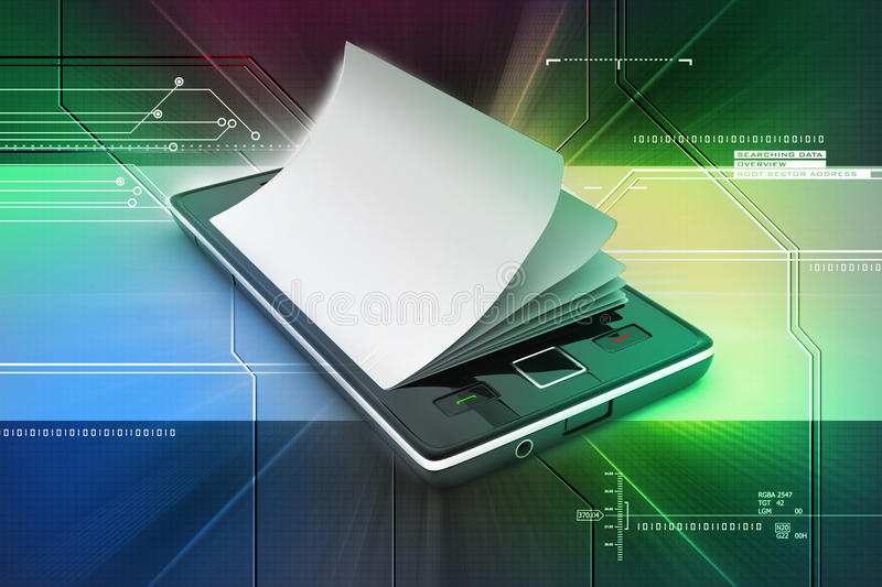 A Smart Phone In The  Paper Stock Illustration