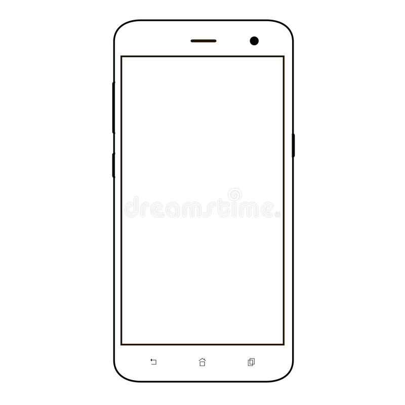 Free Smart Phone. Realistic Mobile Phone Smart Phone With Blank Screen Isolated On Background. Vector Illustration For Printing And Web Royalty Free Stock Photography - 98508187