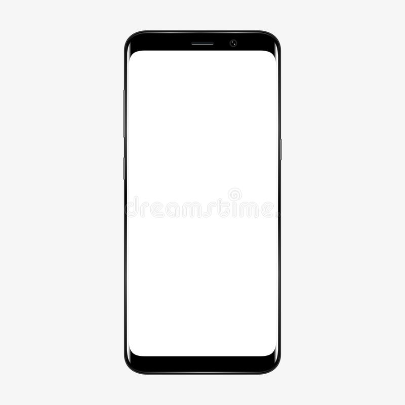 Free Smart Phone. Realistic Mobile Phone Smartphone With Blank Screen Isolated On Background. Vector Illustration For Printing And Web Stock Images - 93817244