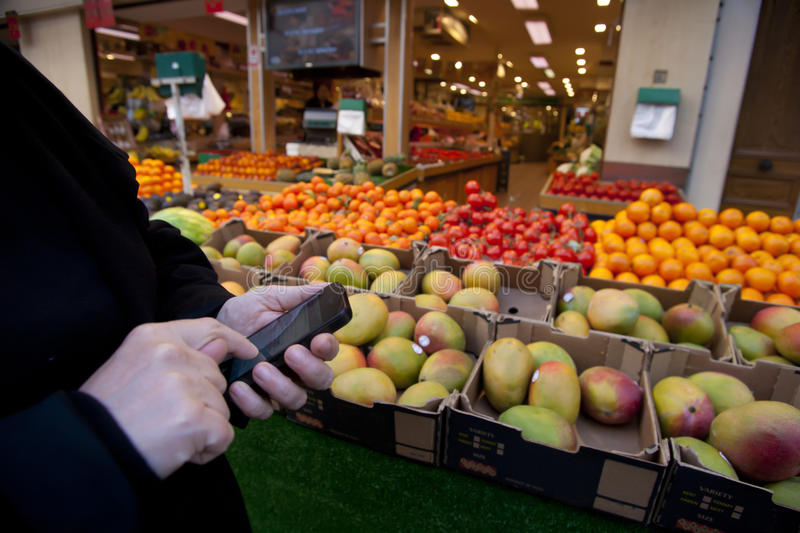 Download Smart Phone in Retail stock image. Image of grocery, mobile - 24118247