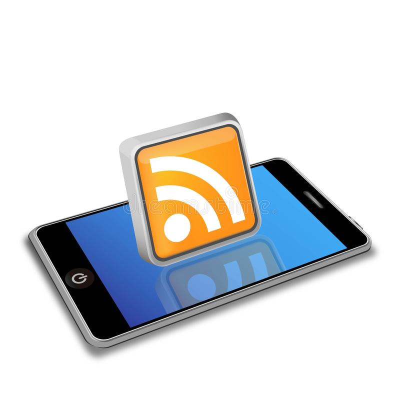Smart phone and RSS icon. The image was made by Adobe Illustrator stock photos