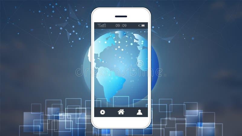 Smart phone screen showing digital circuit boards and world map download smart phone screen showing digital circuit boards and world map background stock vector gumiabroncs Choice Image