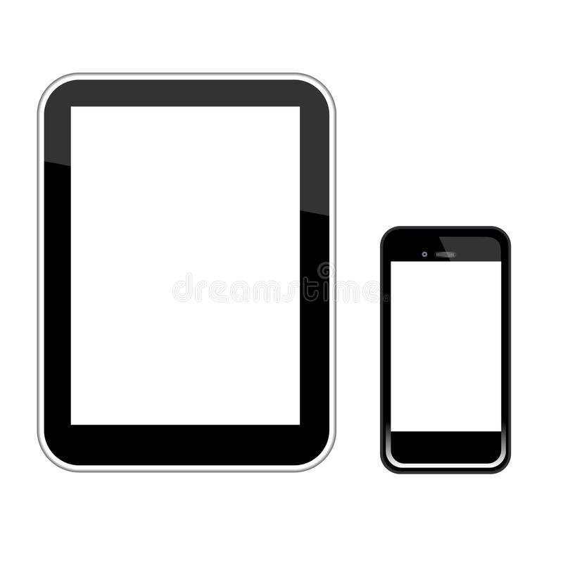 Smart Phone And Tablet Pc Vector stock illustration
