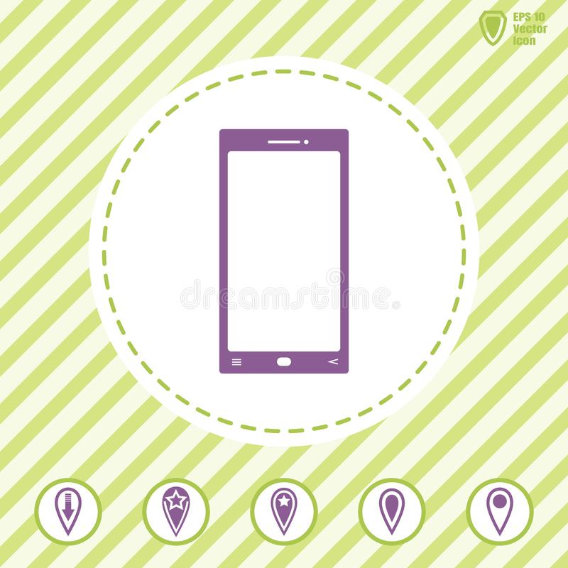 Smart phone vector icon. Illustration on a Flat design style. EPS 10 royalty free illustration