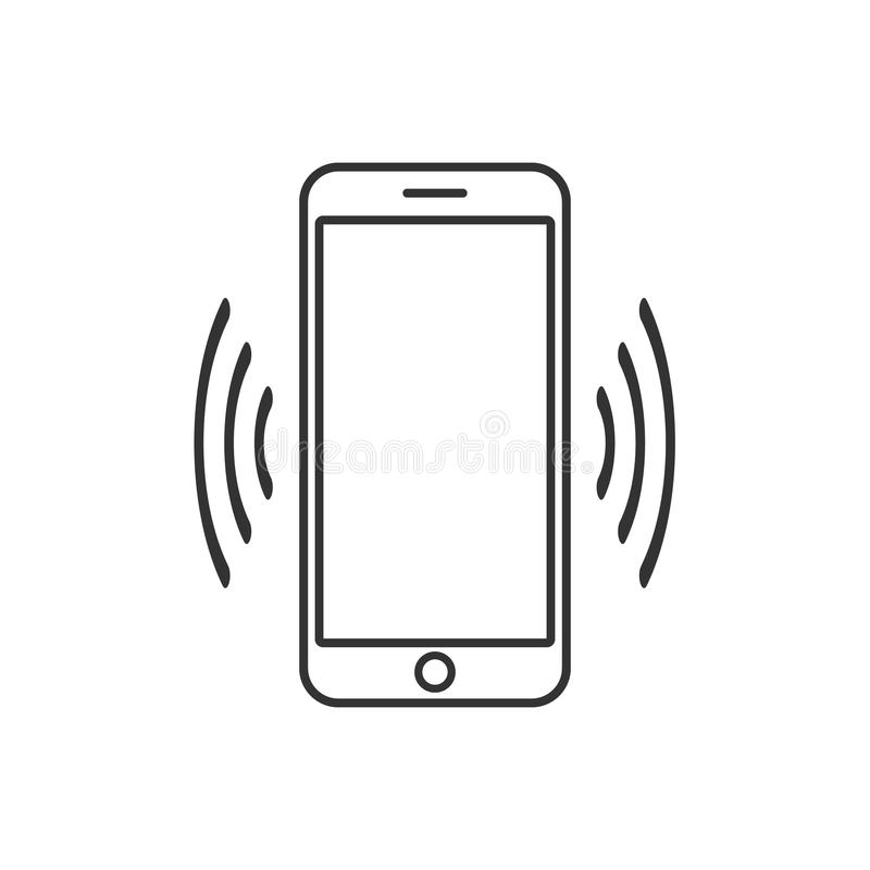 Smart phone vibrating icon. Modern minimalist mobile app ui flat simple icon. vector vector illustration