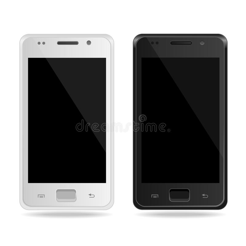 Smart Phone. White and black. Vector template royalty free illustration