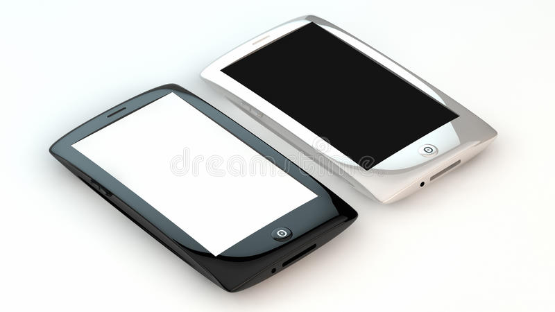 Download Smart phones stock illustration. Image of three, assistant - 22715130