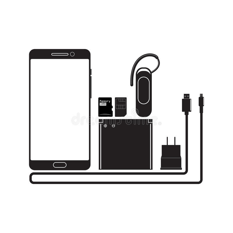 Smart phones and devices. Vector smart phones and portable devices for design work vector illustration