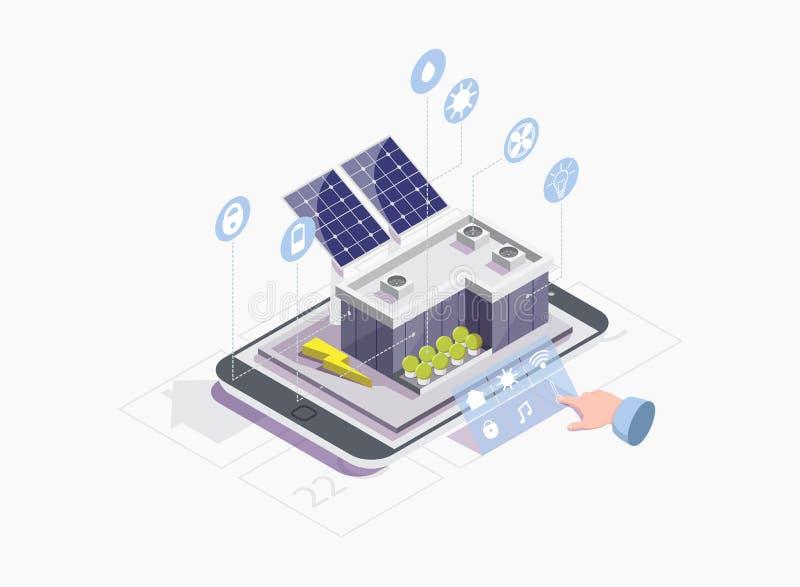 Smart rastervektorbegrepp för rengöringsdukbanret, websitesida stock illustrationer