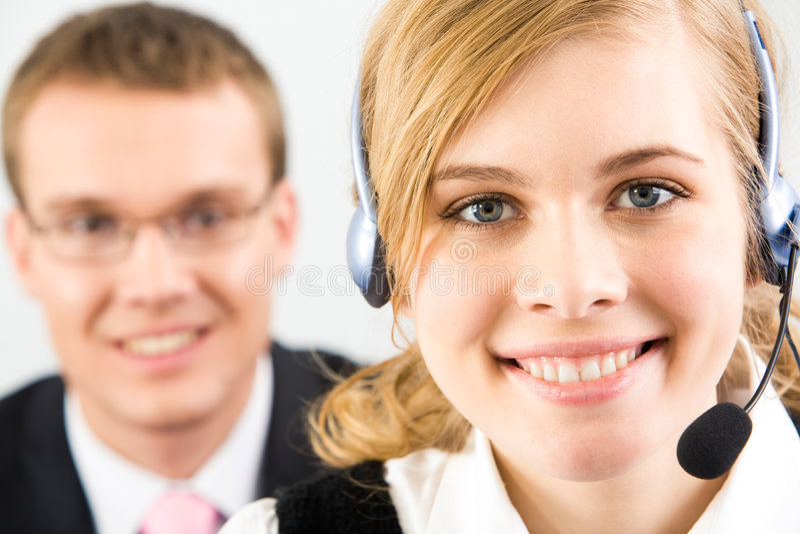 smart receptionist royaltyfri foto