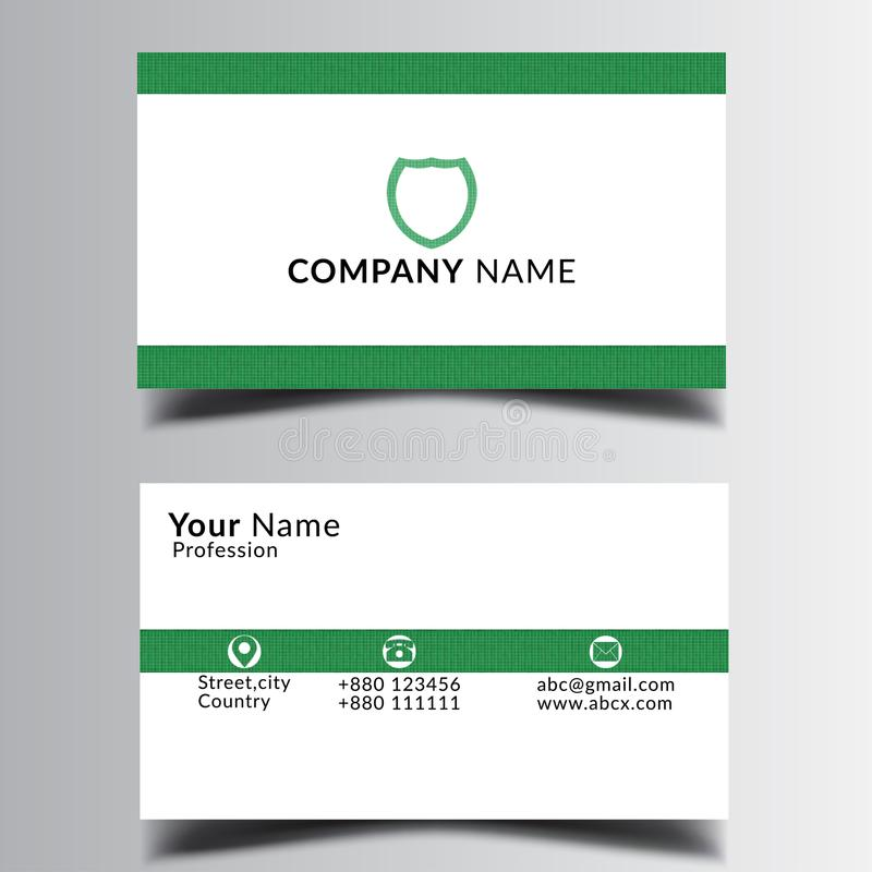 Smart redigerbart affärskort som är tryckbart och royaltyfri illustrationer