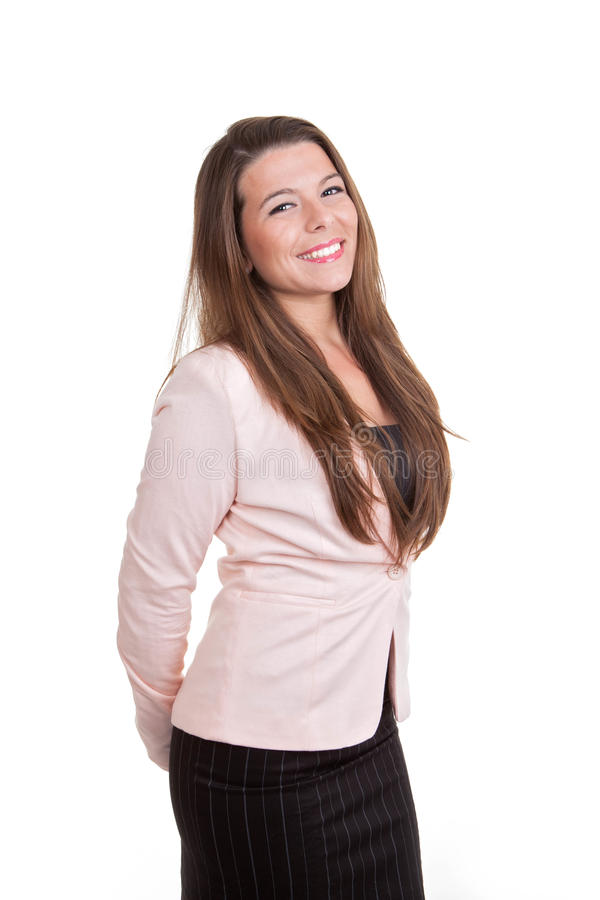 Smart sales or busines woman smiling stock photo