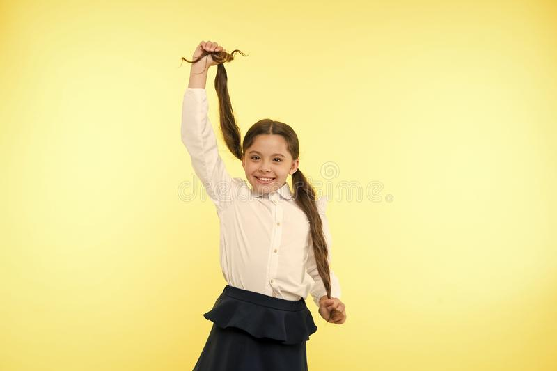 Smart school girl. childrens day. Back to school. Childhood happiness. small girl child. private teaching. Education royalty free stock photography