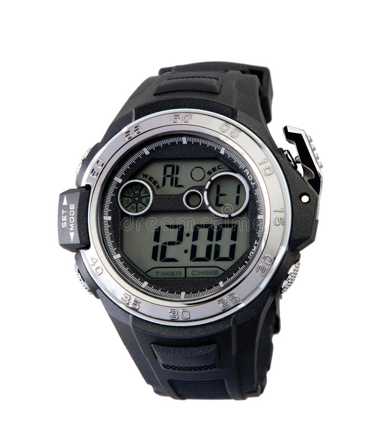 Download Smart sport wristwatch stock photo. Image of compass - 21995764