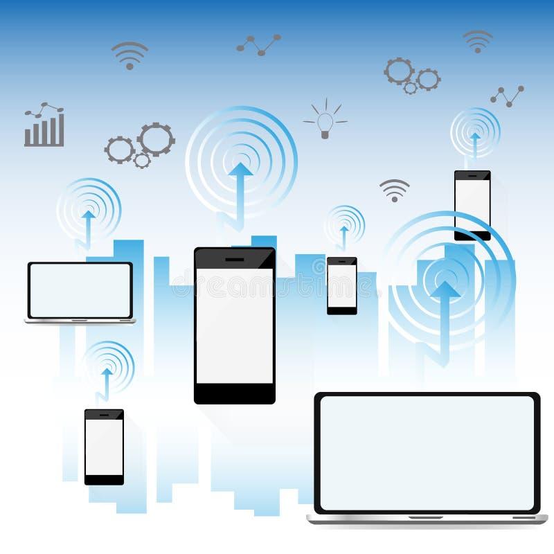 Download Smart Stadsbegrepp, Modern Stadsdesign Med Framtida Teknologi Vektor Illustrationer - Illustration av diagram, applejacken: 78730296