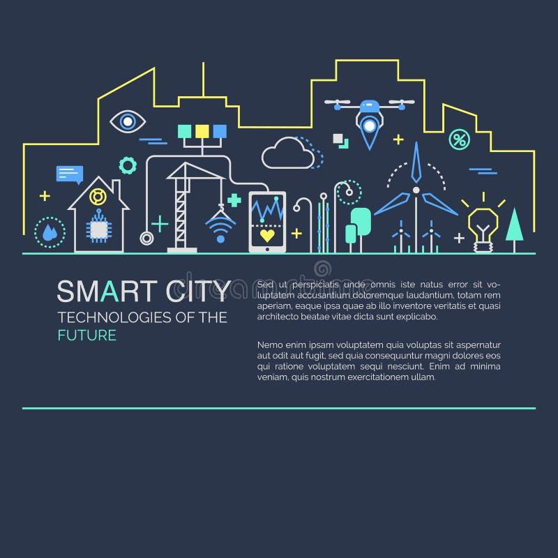 Smart stadsvektorbegrepp arkivbilder