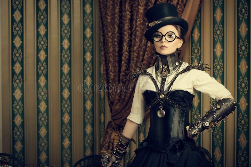 Smart steampunk royalty free stock photo