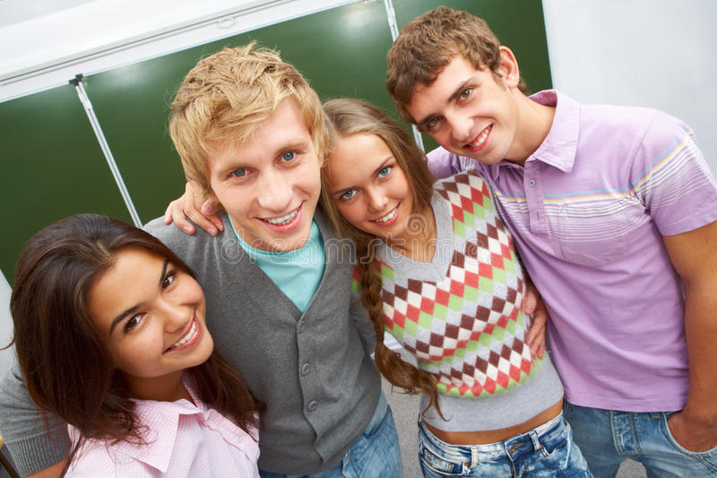 Download Smart students stock photo. Image of modern, couple, college - 15857802