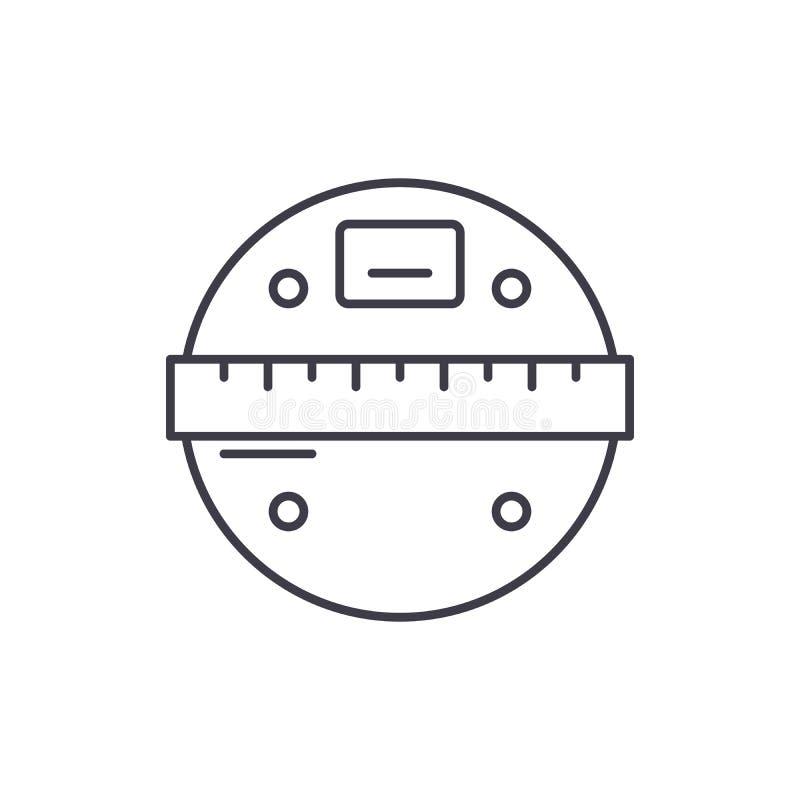 Smart stuft Linie Ikonenkonzept ein Lineare Illustration des intelligenten Skalavektors, Symbol, Zeichen lizenzfreie abbildung
