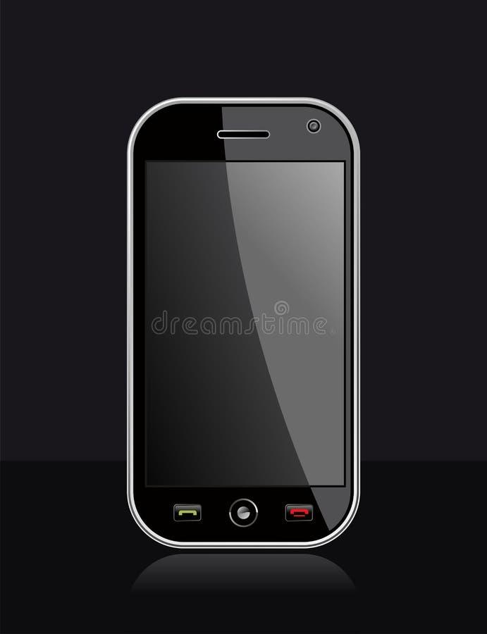 smart svart generisk telefon stock illustrationer