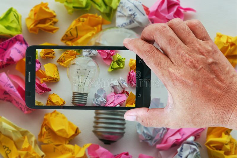 Smart téléphone la photographie un bon concept d'idée photographie stock libre de droits