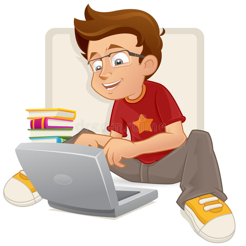 Download Smart Teenage boy stock image. Image of student, clever - 27413181