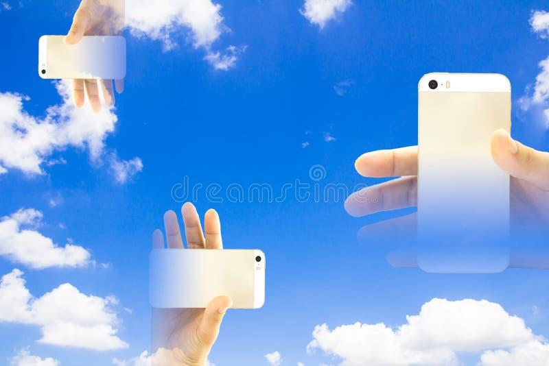 Smart telefon för suddighet royaltyfri bild