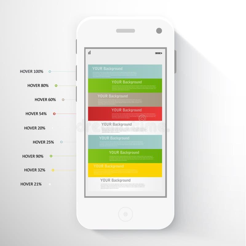 Smart telefon med isolerat Realistisk vit royaltyfri illustrationer