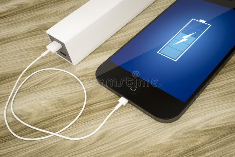 Smart telefon och maktbank stock illustrationer