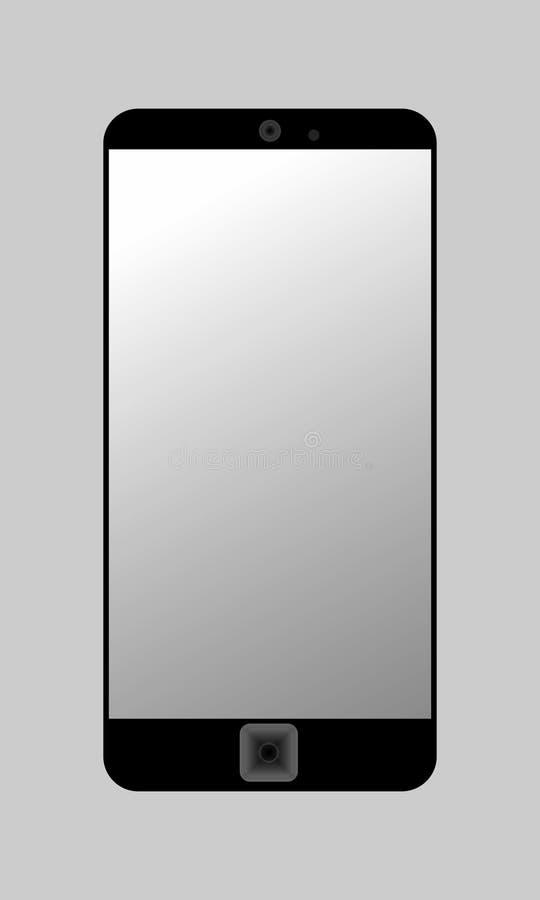 Smart telefon på grå färger stock illustrationer
