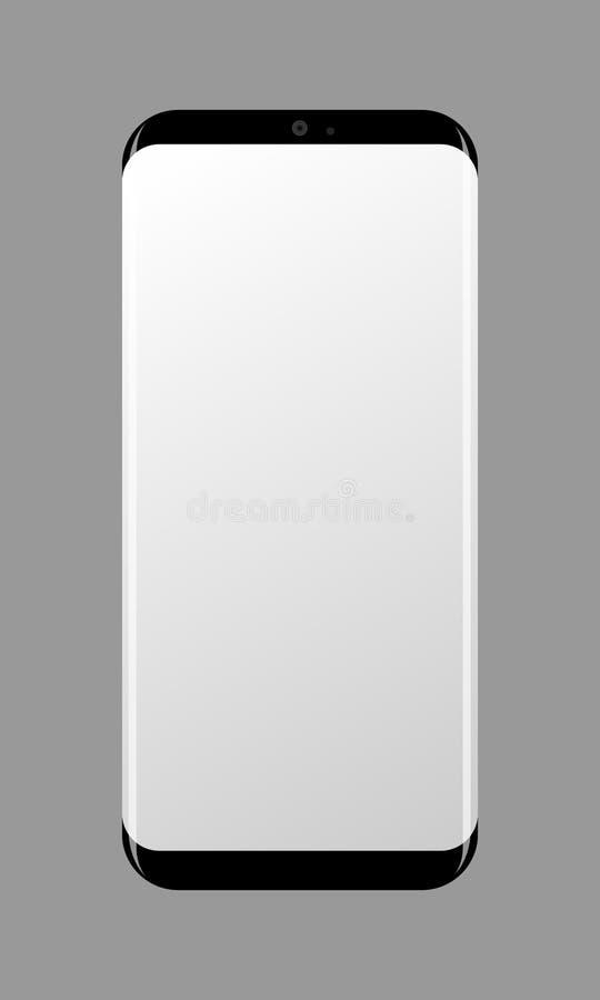 Smart telefon på grå färger vektor illustrationer