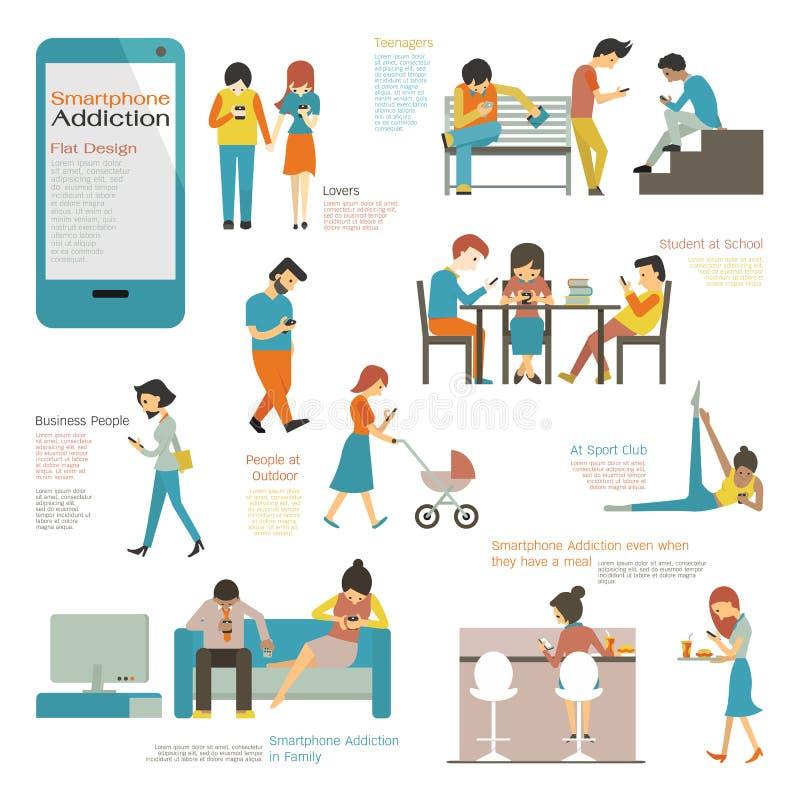 Smart telefonböjelse vektor illustrationer