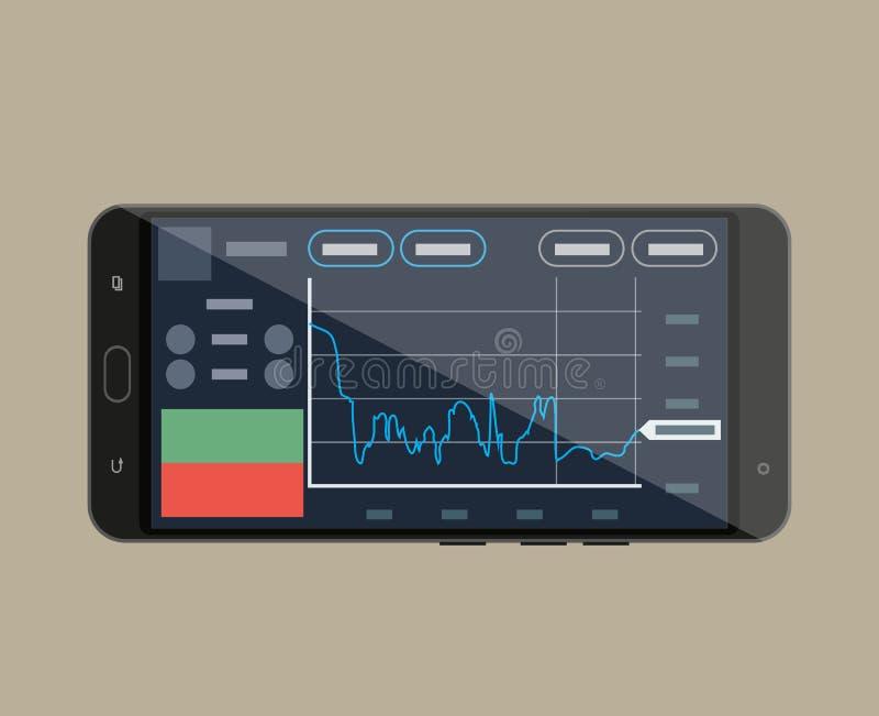 Smart-telefone com aplicação de troca ilustração do vetor