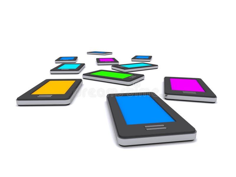 Smart telefoner vektor illustrationer