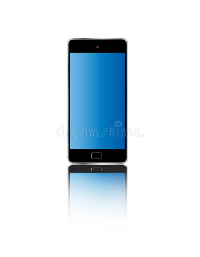 Smart telefonfärg royaltyfri illustrationer
