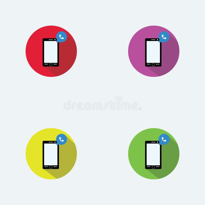 Smart telefonlägenhet Logo Design vektor illustrationer