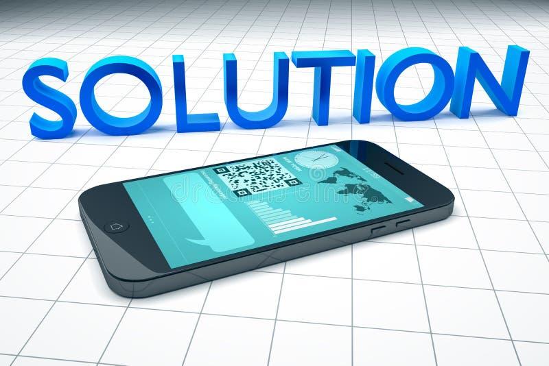 Smart telefonlösning vektor illustrationer