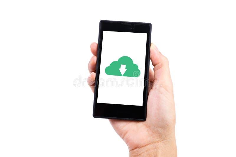 Smart telefonnedladdning arkivfoto