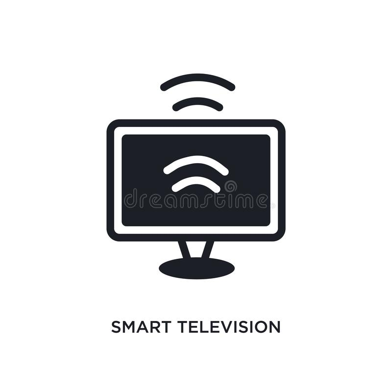 smart television isolated icon. simple element illustration from smart home concept icons. smart television editable logo sign stock illustration