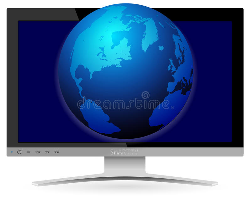 Download Smart TV stock vector. Image of earth, computer, smart - 28397072