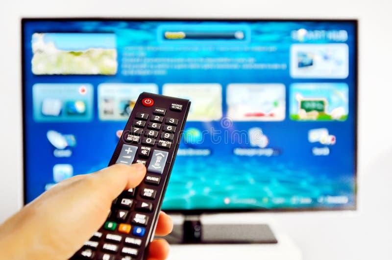 Smart TV royaltyfri foto