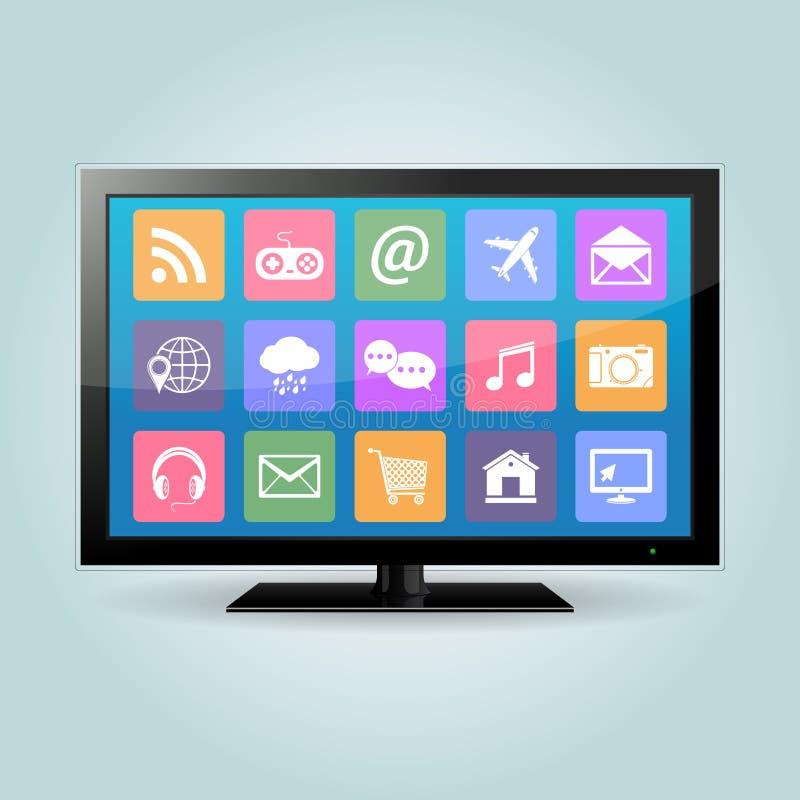 Smart TV illustration de vecteur