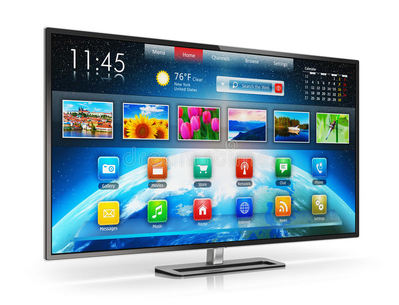 Smart TV stock illustrationer