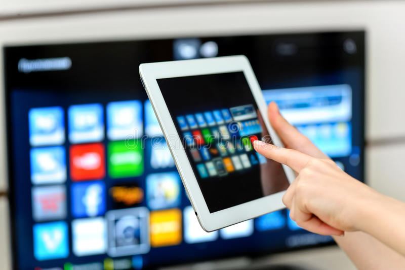 Smart TV royaltyfria bilder