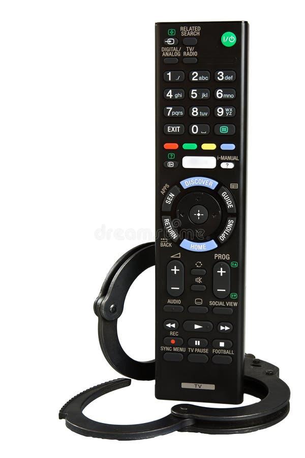 Smart tv för fjärrkontroll royaltyfri fotografi