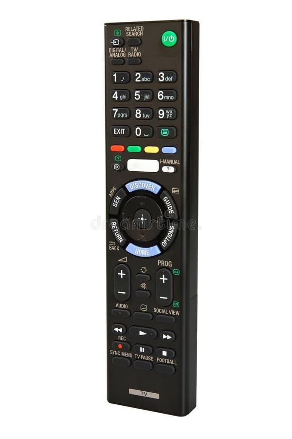 Smart tv för fjärrkontroll fotografering för bildbyråer